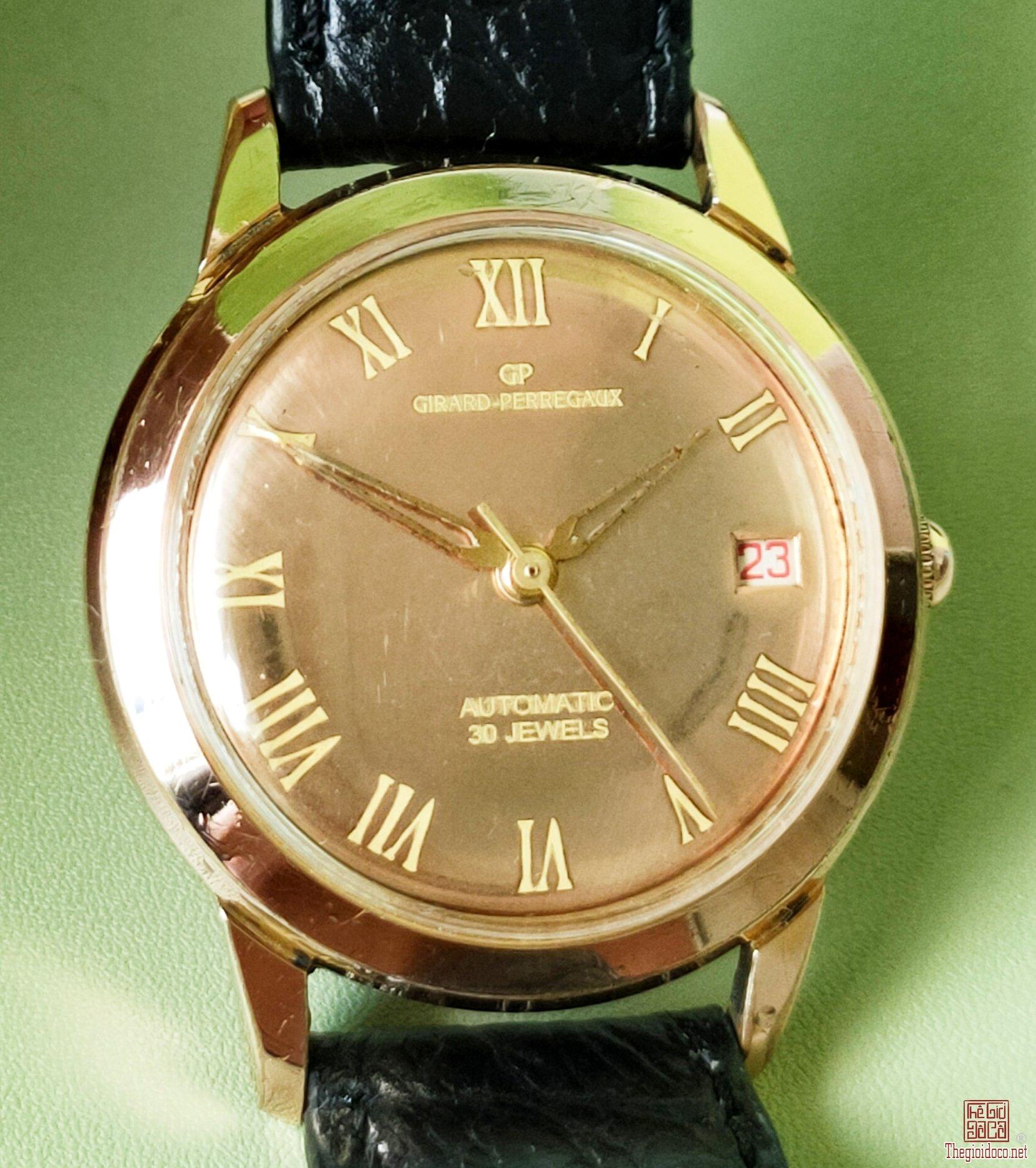 Đồng hồ GP bọc vàng hồng mặt soi gương 1 lịch