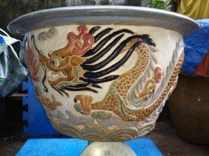 Chậu Rồng gốm Biên Hoà -MS9999