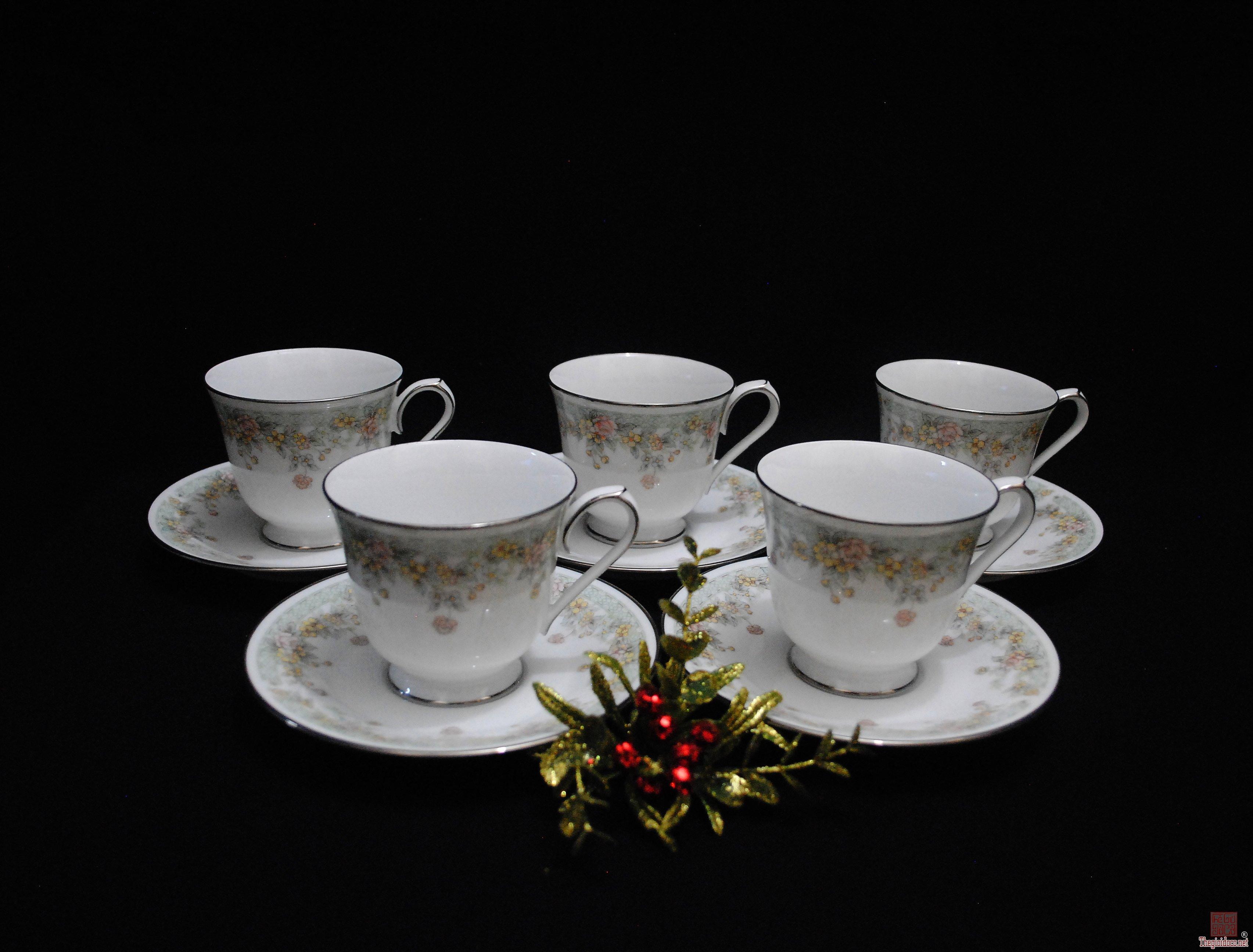 Set 10 tach dĩa dùng trà, coffee...NỎRITAKE JAPAN, nhập từ MỸ.