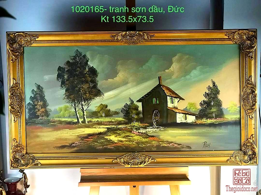 Trang sơn dầu vintage từ Đức