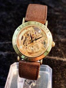 Đồng hồ xưa Revue Thommen lộ cơ...