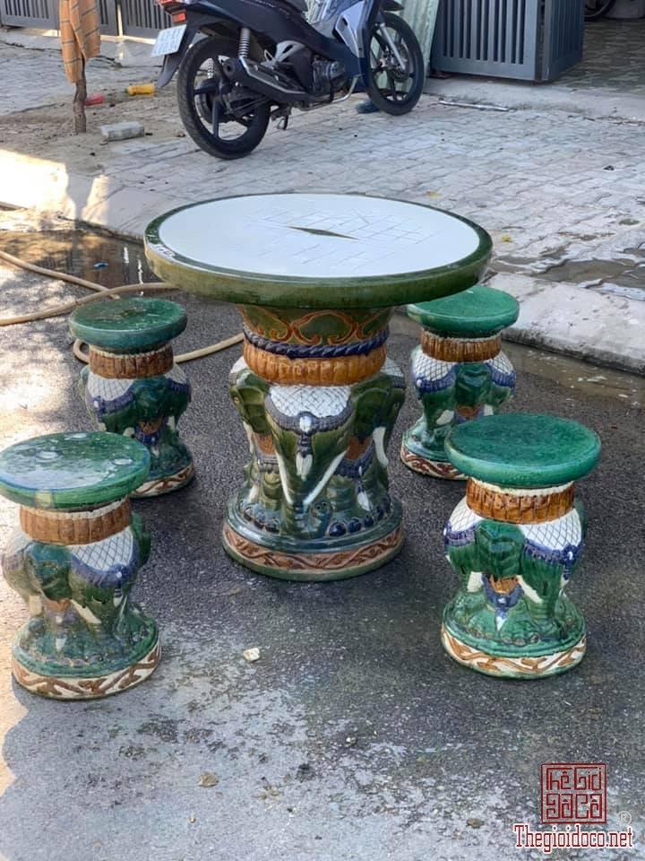 Bộ bàn voi Lái Thiêu và 4 đôn voi Biên Hòa zalo: 0776218163 Tiệm Hoàng Thiên.