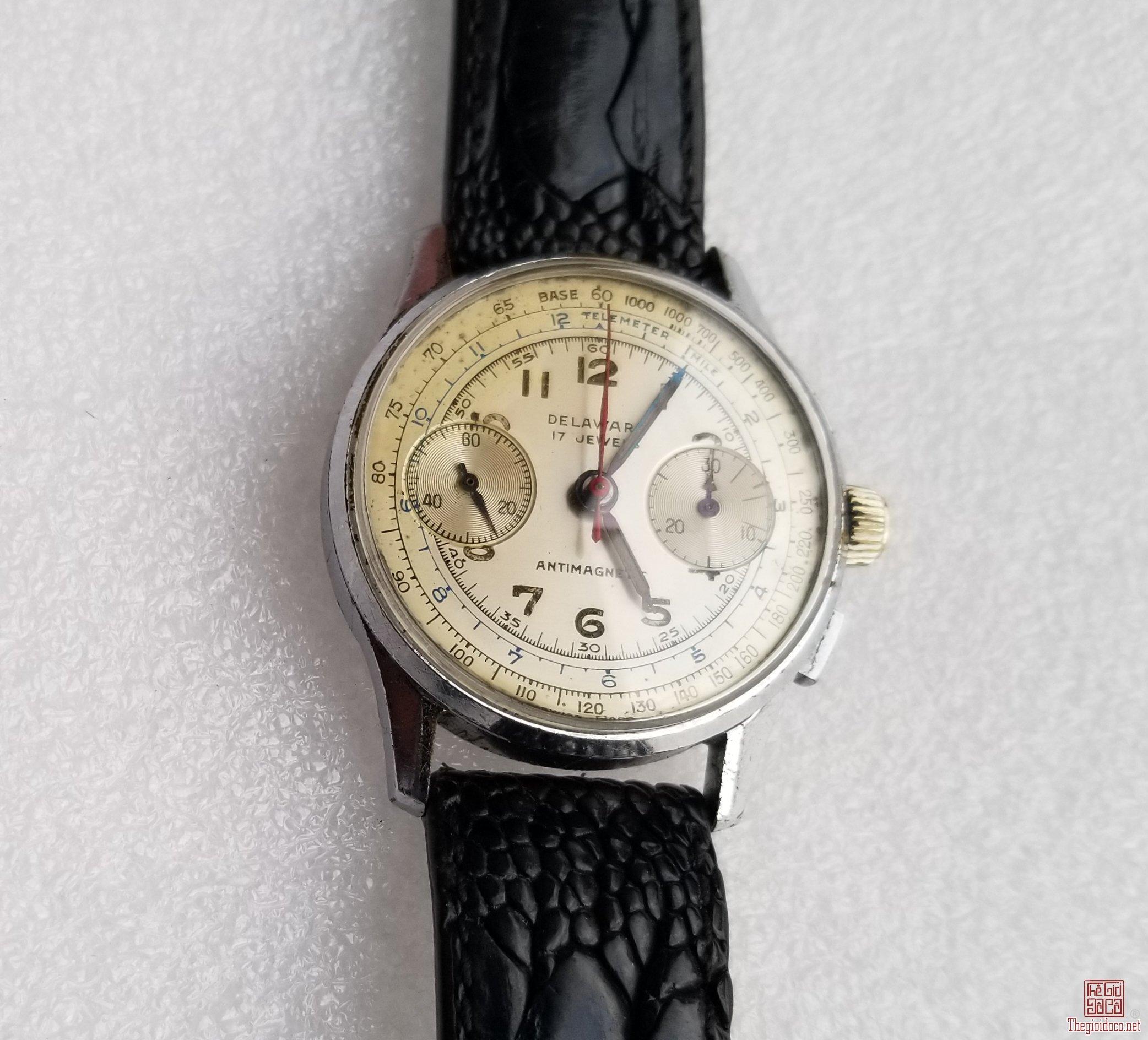 Đồng hồ xưa lên dây DELAWARE CHRONOGRAPH