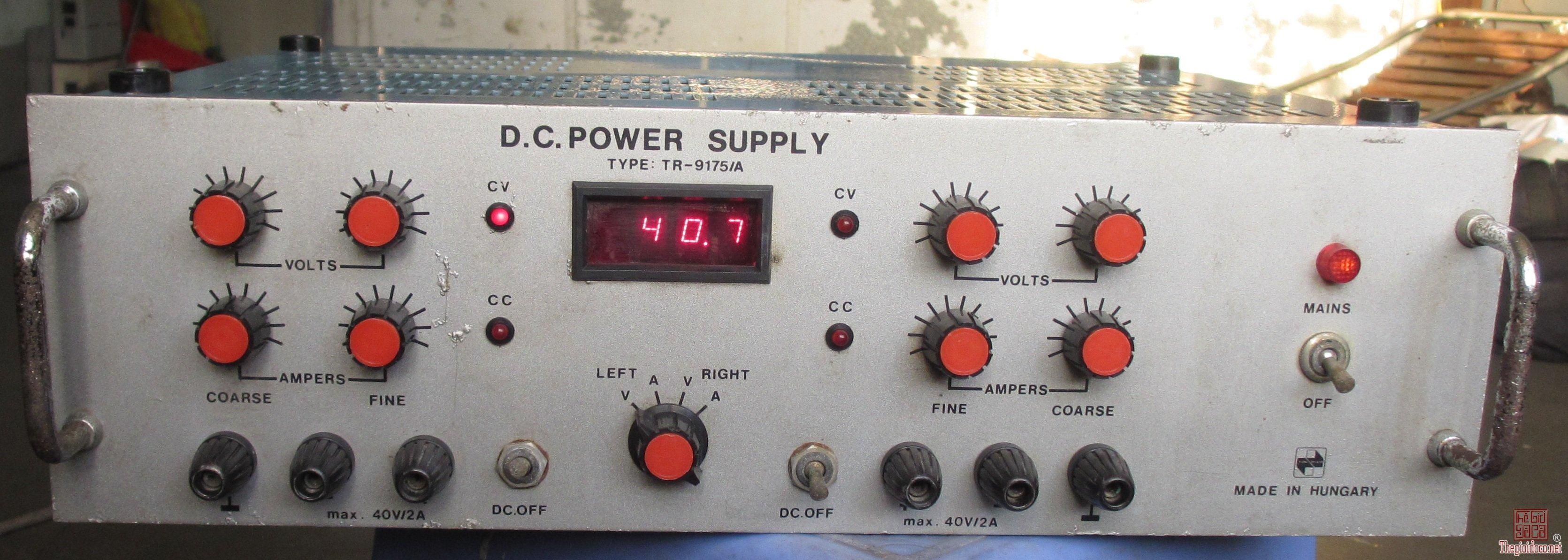 máy cấp nguồn DC Stabilized Power Supply TR-9175
