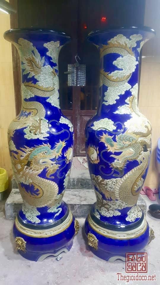 Cặp Lộc Bình Song Long Chầu Nguyệt cao 170cm Gốm Biên Hòa zalo: 0776218163 HoàngThiên