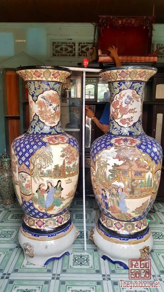 Cặp Lộc Bình 3 Cô Gái 3 Miền cao 163,5cm Gốm Biên Hòa zalo: 0776218163 HoàngThiên