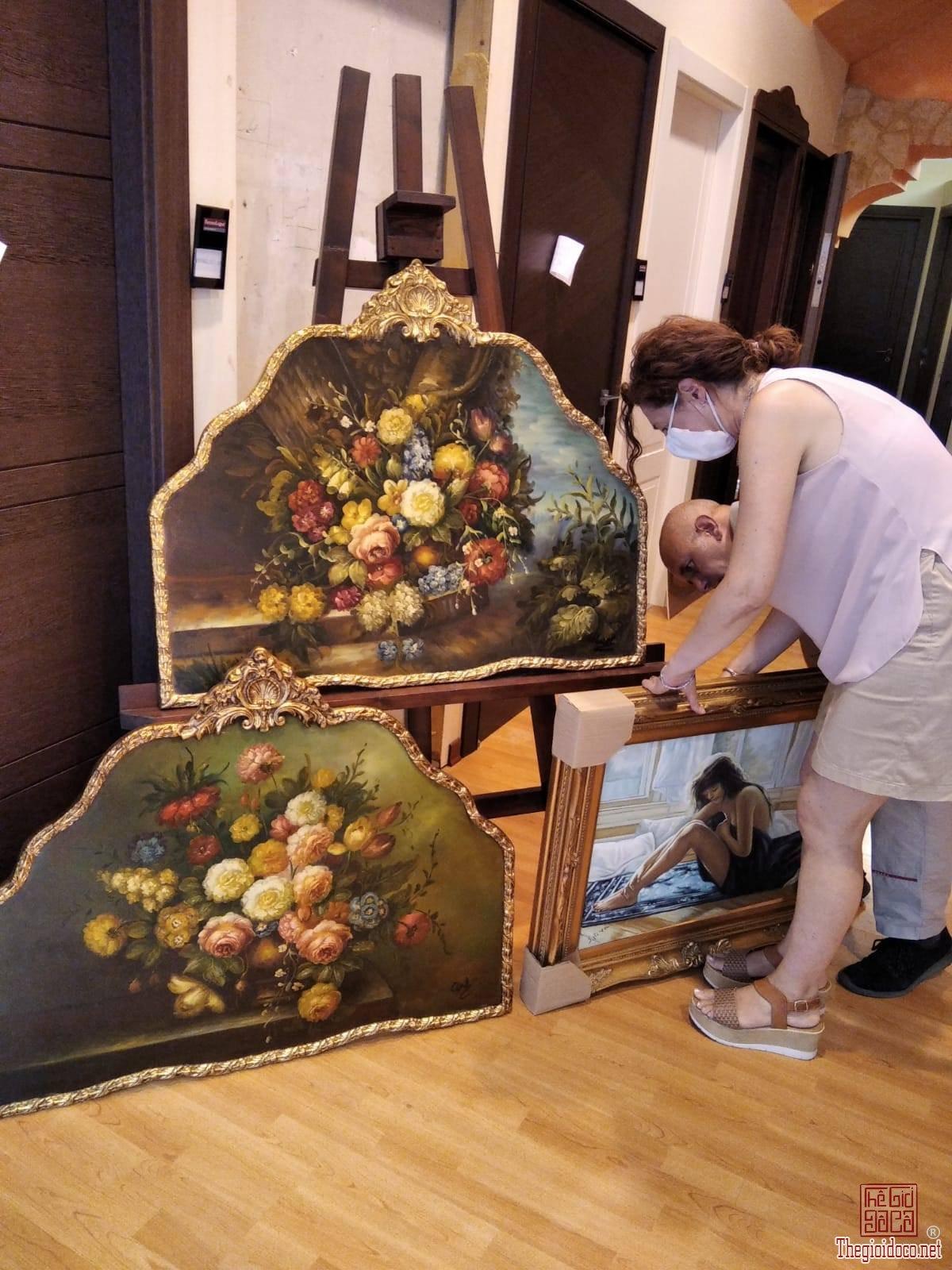 Tranh sơn dầu hoa (Hàng mới về)