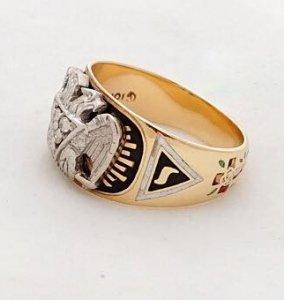 Nhẫn Masonic 2 tone  hột xoàn...