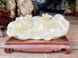 Vỏ sò hóa thạch điêu khắc:TỲ...